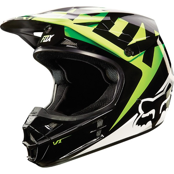 FOX V1 Race (Black/Green) Sisak