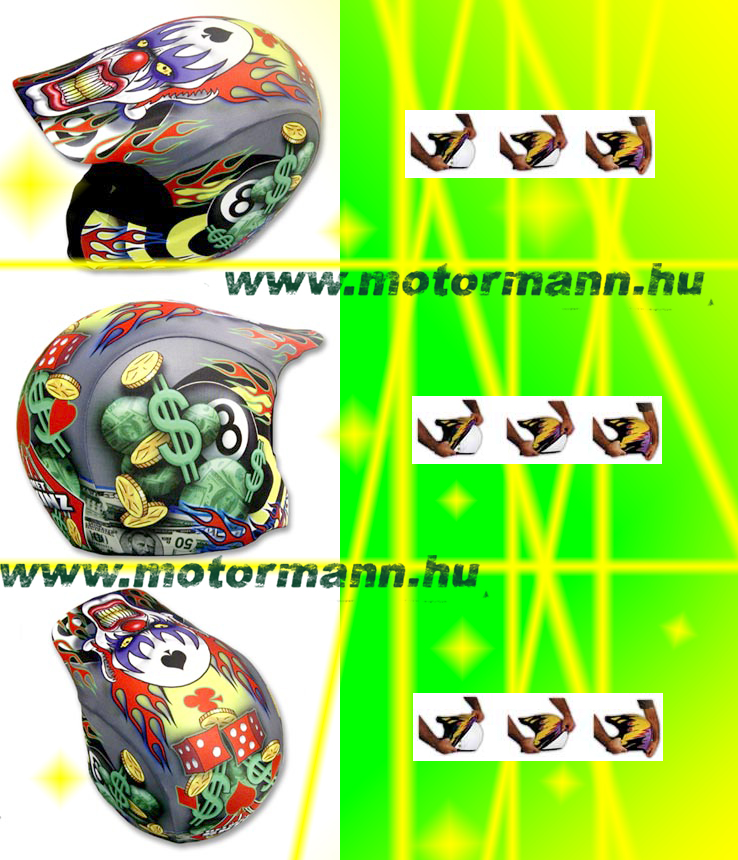 HelmetSkinz Bling Clown - Sisakhuzat